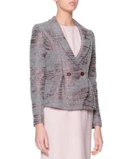 Giorgio ArmaniSequined Boucle Shawl-Collar Jacket