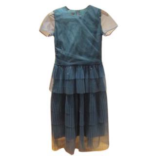Burberry Prorsum Green tulle / silk dress