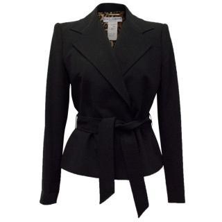 Dolce & Gabbana Black Blazer With Tie Front