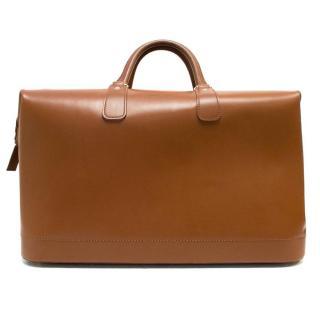 Bentley Luggage Tan Leather Weekender Holdall