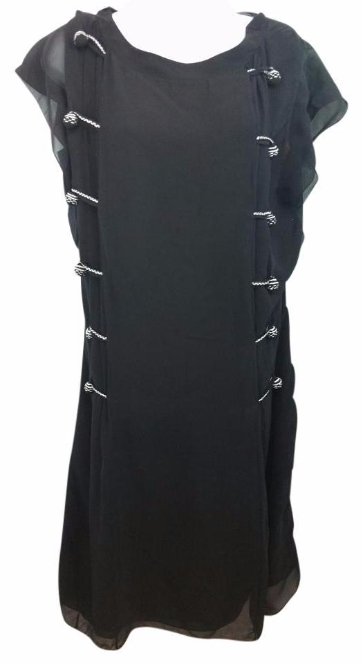NINA RICCI Black Silk Shift Dress