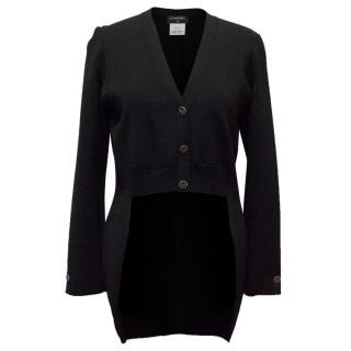 Chanel Black High Low Cardigan