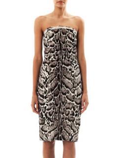 Christopher Kane Jaguar print Leather Dress