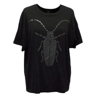 Vera Wang Black 'Bug Off' Graphic T-Shirt