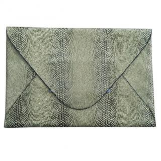 BCBG Gold Snakeskin Envelope Clutch Bag