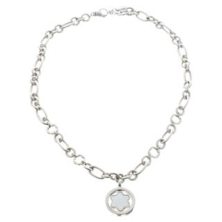 Mont Blanc Sterling Silver Mother of Pearl Star Necklace