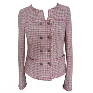 Chanel pink lesage tweed jacket