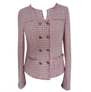 Chanel pink lesage tweed jacket