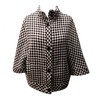 Paul and Joe Sister Houndstooth Wool Cape