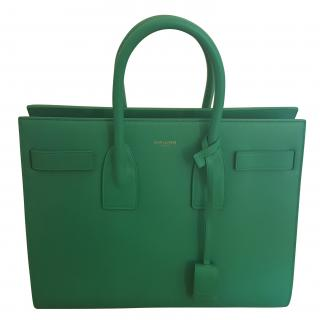 Saint Laurent Small Green Sac du Jour