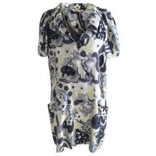 Balenciaga print silk dress