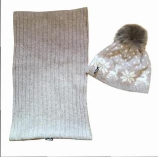 Steffner 100% Lambswool Hat & Scarf set