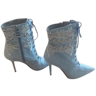 Manolo Blahnik x Rihanna Dancehall Cowgirl Jewel Ankle Boots