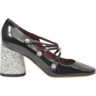 Marc Jacobs Glitter Heel Mary Janes