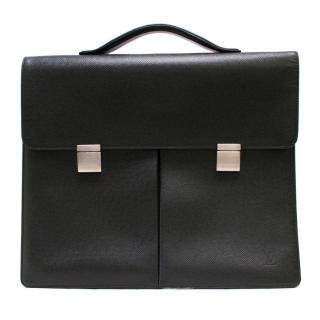 Louis Vuitton Black Coated Canvas Briefcase With