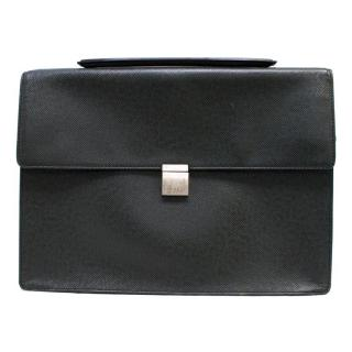 Louis Vuitton Black Briefcase With Single Silver Clasp