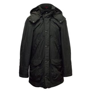 Fay Black Puffer Jacket With Hood