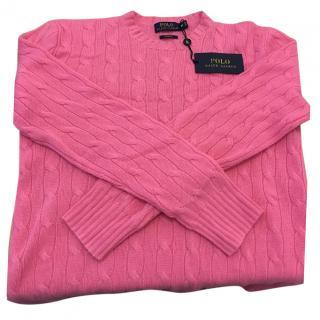 Ralph Lauren Polo Pink Men's Cashmere Jumper