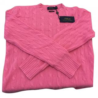Ralph Lauren Polo Pink Men's Cashmere Jumper