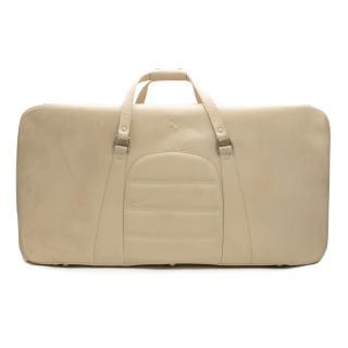 Ferrari Beige Medium Leather Suitcase
