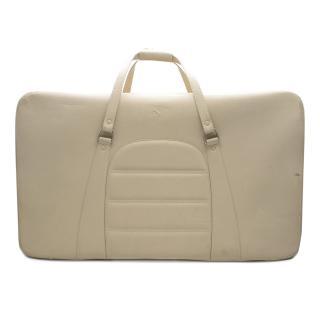 Ferrari Beige Large Leather Suitcase