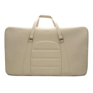 Ferrari Beige Large Leather Suitcase