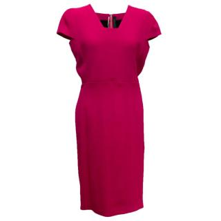 Roland Mouret Pink Pencil Dress With Zip Up Back