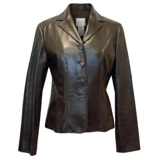 Celine Dark Brown Leather Jacket