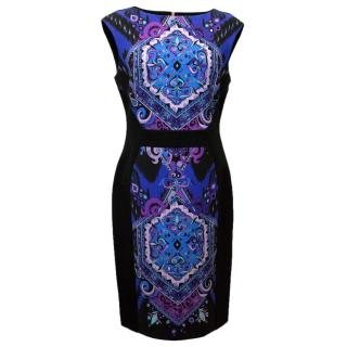 Emilio Pucci Fitted Dress With Front Print Panels