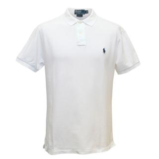 Ralph Lauren White Polo Shirt With Small Pony Logo