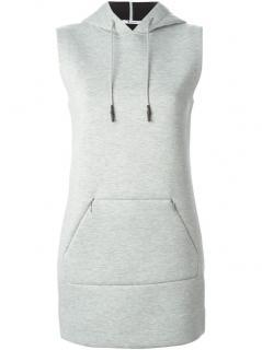 T By Alexander Wang Hooded Sweatshirt Dress