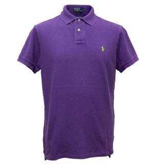 Ralph Lauren Purple Polo With Green Pony Logo