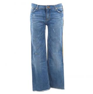 Roberto Cavalli distressed Serpent embellished jeans