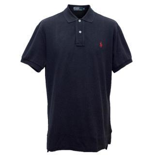 Ralph Lauren Navy Small Pony Logo Polo Shirt