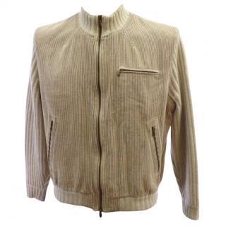 Brunello Cucinelli  Zip-Front Beige Cashmere knitted Sweater Jacket