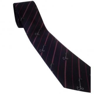 Givenchy Gentleman Paris silk tie Blue