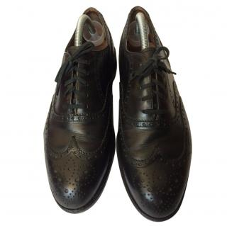Bally  Black Leather Lace Up Oxford