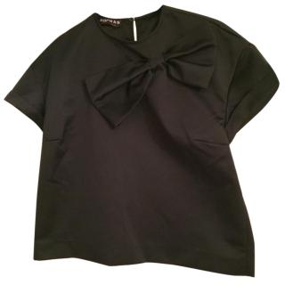 Rochas black bow detail top