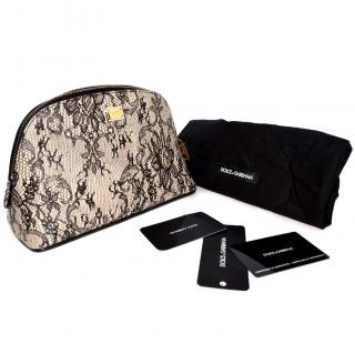 Dolce & Gabbana lace leather purse beauty bag