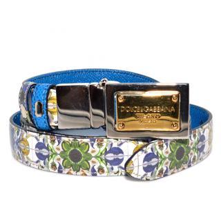 Dolce & Gabbana blue Majolica belt