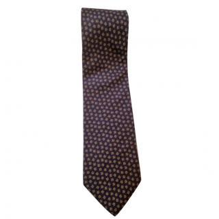 Christian Dior silk tie Blue