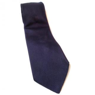 Aquascutum silk tie blue