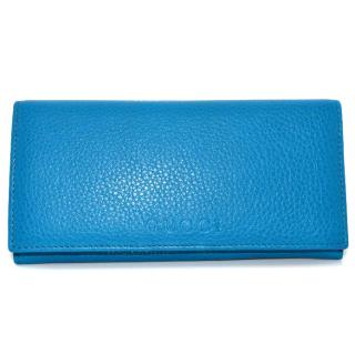 Gucci blue leather wallet/purse