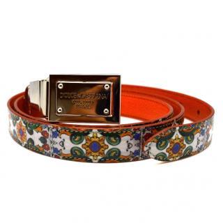 Dolce & Gabbana Majolica logo belt
