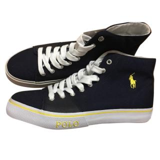 Polo ralph lauren mens hi cut trainers size 8 uk
