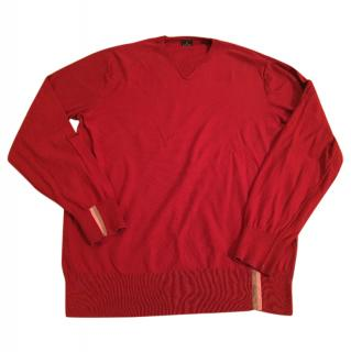 Men's Paul smith rust red cotton jumper size large