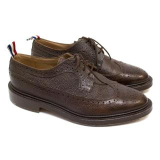 Thom Browne Brown Classic Brogue With Leather Sole