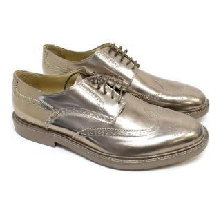 Patrick Cox for Geox Metallic Silver Brogues