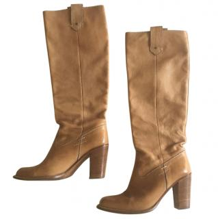 Barbara Bui camel high leather boots