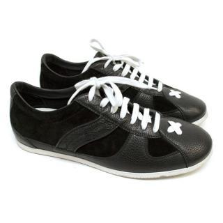 Bottega Veneta Black Leather And Suede Trainers